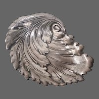 International Sterling Swirling Leaf Dish c1940