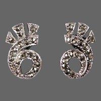 Art Deco Sterling & Marcasite Earrings