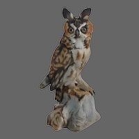 Long-Eared Owl Signed Bisque Figurine