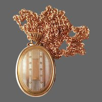 Classic Art Deco Gold Filled Hayward Engraved Locket & Chain c1930s