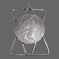 French Coin Money Clip Lud XV Rex Christianiss - 1731