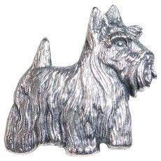 James Avery Long Hair Scottish Terrier Pin retired design