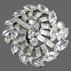 Kramer of New York Large Prong Set Rhinestone Pin