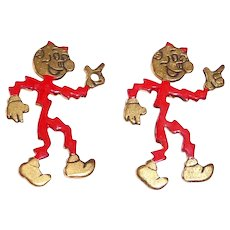 Reddy Kilowatt Pair of Advertising Lapel Pins