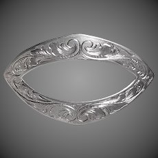 William Kerr Victorian Sterling Engraved Brooch