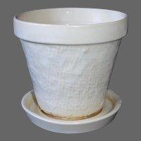 Shawnee Ceramic Small Planter w Attached Dish