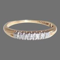 14k & Palladium Diamond Stacking Ring