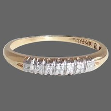 14k & Palladium Diamond Stacking Ring
