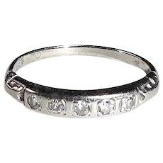 14k White Gold Diamond Stacking Ring