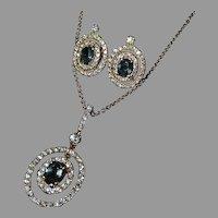 18k Diamond & Natural Alexandrite Color Change Earrings & Pendant Necklace Set w Appraisal