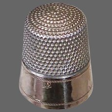 Sterling & 10k Simons Brothers & Co Thimble
