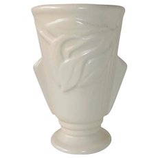 McCoy Matte White Art Deco Vase