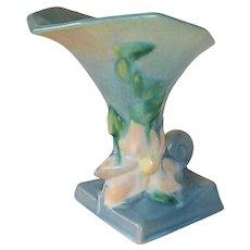 Roseville American Art Pottery Clematis Cornucopia Vase