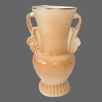 Vintage Royal Copley Double Handled Apricot Ombre Glaze