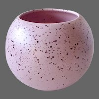 Mid Century Atomic Age Round Speckled Pottery Vase