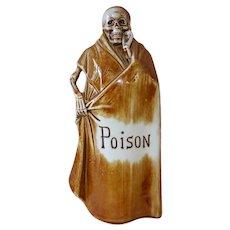 Schafer & Vater Skeleton Grim Reaper Poison Bottle Flask