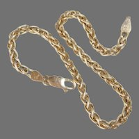 14k Decorative Italian Dense Chain Bracelet