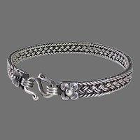 Braided Sterling Wire Bracelet