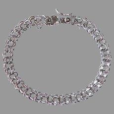 Sterling Silver Double Link Starter Charm Bracelet
