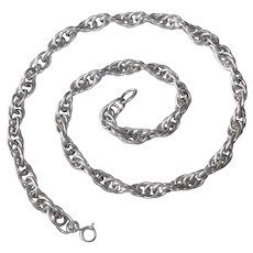 """Sterling 24"""" Heavy Oval Triple Link Rope Chain"""