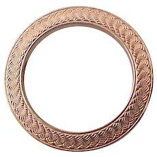 10k Edwardian Engraved Circle Pin