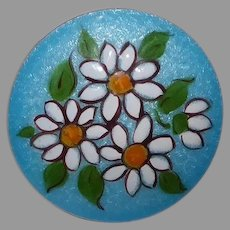 Mid Century Cheery Daisy Flower Enamel Pin