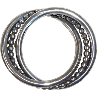 Beau Sterling Entwined Triple Circles Pin