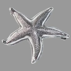 Beau Sterling Dimensional Starfish Pin