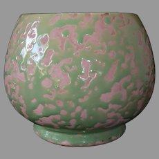McCoy Brocade Pattern Pink & Green Planter Vase