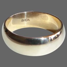 10k Yellow Gold Wide Band Ring