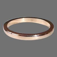 Victorian 14k Rose Gold Band Ring