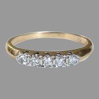 14k & 18k Mid Century Five Diamond Band Ring
