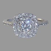 Salesman's Sample Silver Alloy Cubic Zirconia Ring