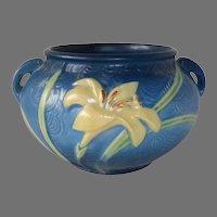 Roseville Zephyr Lily Bulbous Jardiniere Double Handled Vase