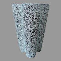 Shawnee Tall Turquoise & Black 'Chantilly' Vase