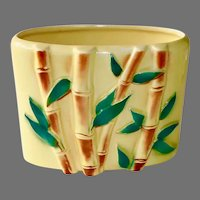 Ceramic Vase with Raised Bamboo Design