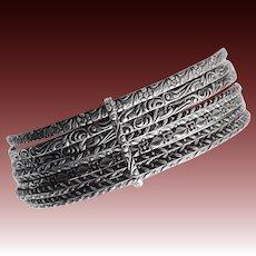 Antique Set of 7 Patterned Bangle Bracelets