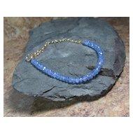 Tanzanite Gold Filled Summer Layering Bracelet