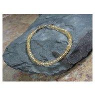 Citrine Gemstone Summer Layering Gold Filled Bracelet
