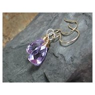 Lilac Quartz Drop Earrings
