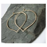 14K Yellow Gold Large Hoop Earrings