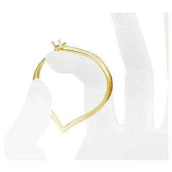Large Gold Vermeil Hoop Ear Wires