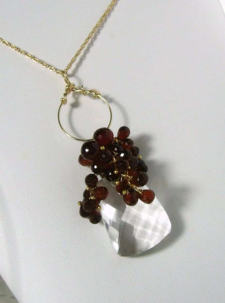 hessonite quartz gemstone necklace mishelli designs