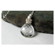 Quartz Crystal Gemstone Pendant