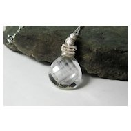 Quartz Crystal Gemstone Pendant