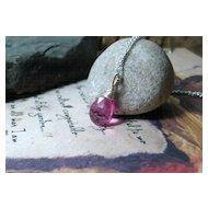 Pink Quartz Gemstone Sterling Pendant