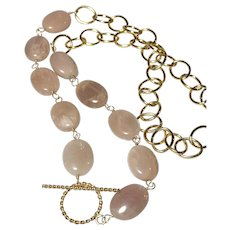 Sunstone Gold Fill Gemstone Necklace