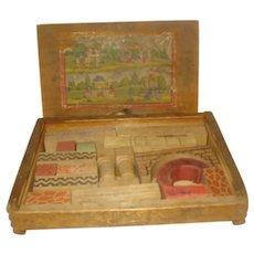 Vintage Wood Children's Block Set