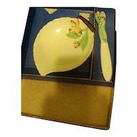 Carlton Ware Apple Blossom Leaf set / Original Box