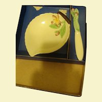 Carlton Ware Apple Blossom Leaf set / Original Box